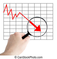 Negative Chart - A person analyzes a negative chart All on...