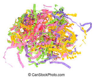 paper frills - colorful paper frills over white