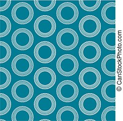 White rings on blue backgroung. - This pattern tiles...