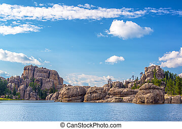 Beautiful Sylvan Lake - Beautiful rock formations at Sylvan...