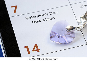 February 14th is the Valentinersquo;s Day isolated on blue -...