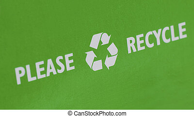Recycle can preserve and save the Earth