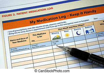 Prepare and maintain the patient medication log