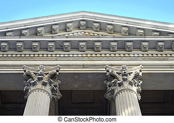 Neoclassical architecture with columns from the City Hall in...