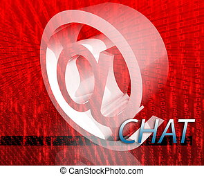 Online chat - Internet communication illustration for blogs...
