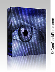 Electronic eye illustration box package