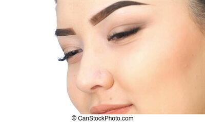 Close-up face of asian girl