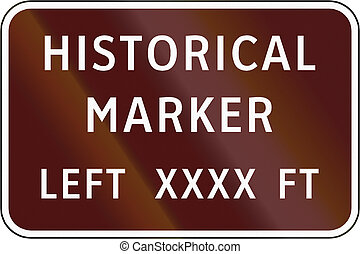 Road sign used in the US state of Virginia - Historical...