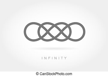 Limitless icon Simple mathematical sign Isolated on White...