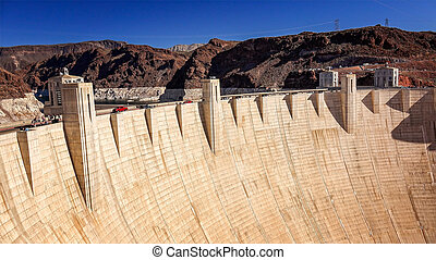 Tourists and Traffic at Hoover Dam - Tourists and traffic...