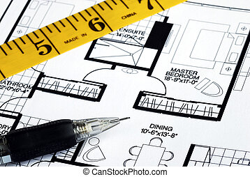 Prepares the architectural floorplan for a residence