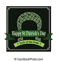 Happy St Patricks Day Lucky Horseshoe - Happy St. Patricks...