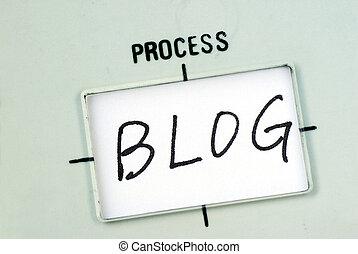 書きなさい, 単語, 中,  blog, テンプレート, フローチャート