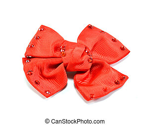 Red bow - valentine 's day on the white background