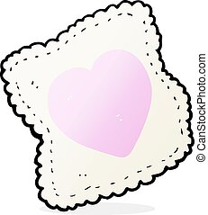 cartoon handkerchief - cartoon love heart handkerchief