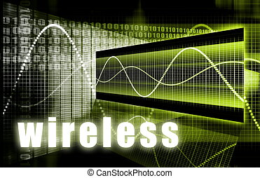 Wireless Technology as a Wifi Digital Background