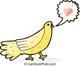 cartoon love bird