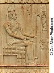 Detail of Egyptian gate in Pushkin (Tsarskoe Selo)