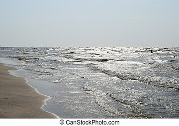 The coast of Sea Azov - The coast of the Sea of Azov. Beach...