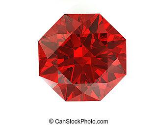Red diamond on white background