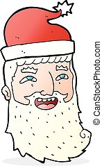 cartoon laughing santa