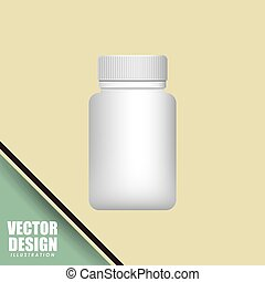 plastic bottle design, vector illustration eps10 graphic