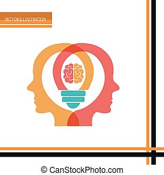 brain storm design - brain storm design, vector illustration...