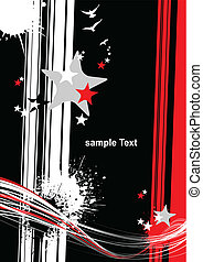 Abstract black and red background. Vector illustration