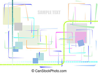 Abstract framed background. Vector illustration