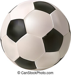 soccer ball - vector photo realistic soccer ball on white...