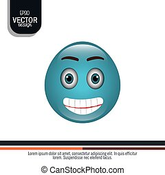 funny emoticon design, vector illustration eps10 graphic