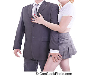 Couple in a sexy role playing game. - Couple in a sexy role...