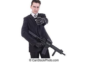 segredo, agente, ou, terrorista,