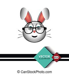 cute rabbit design, vector illustration eps10 graphic