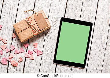 caja,  PC, regalo, tableta,  mockup