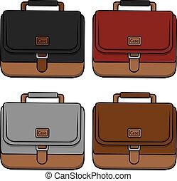 Briefcase businessman  illustration
