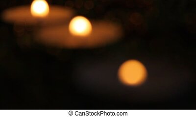 Candle and beads
