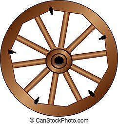 Wooden wheel for an old wagon
