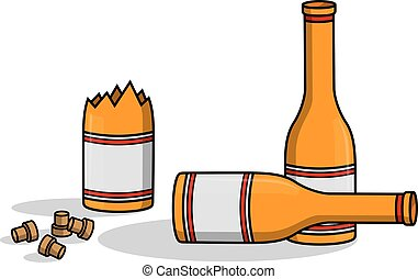 Liquor bottle crash
