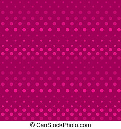 Seamless polka dot bright pink pattern