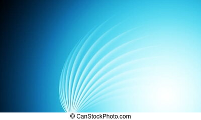 Bright blue shiny swirl abstract video animation