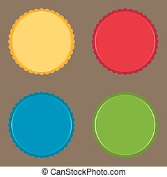Set of color buttons and labels Vector image