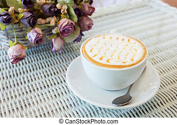 hot coffee drink caramel macchiato