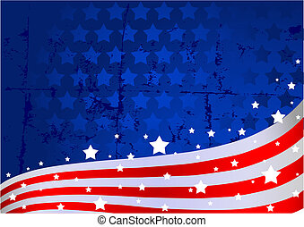 American flag background - An American flag background