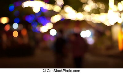 Blurred light and people festival - Blurred Lights on big...
