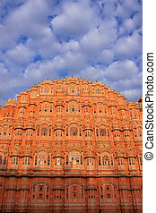 Hawa Mahal - Palace of the Winds in Jaipur, Rajasthan, India...