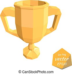 Icon gold cup isolated on a white