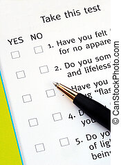 Select Yes or No from a questionnaire with a pen