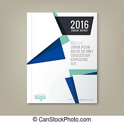 Abstract shapes background for business annual report book...