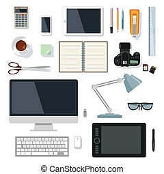 Office_supplies_on_white.eps